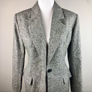 Yves Saint Laurent Cashmere & Wool Gray Blazer 12